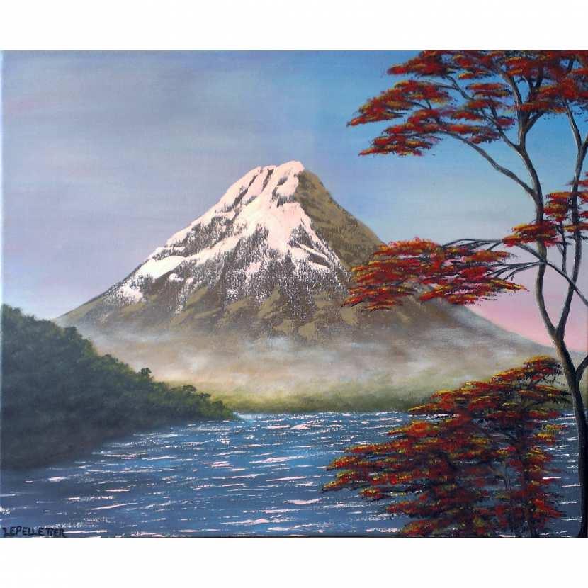 Tableau Paysage Le Mont Fuji Yama Par Virginie Lepelletier