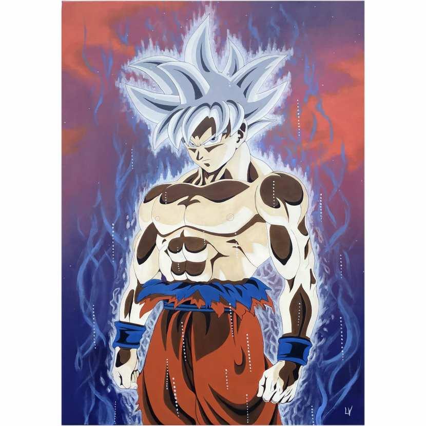 Tableau Manga Goku Ultra Instinct V2 Par Virginie Lepelletier